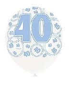 Blue 70th Birthday Balloons