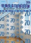 Blue 70th Birthday Decoration