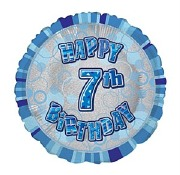 Blue 7th Birthday Balloon
