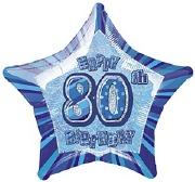 Blue 80th Birthday Balloon