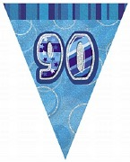 Blue 90th Birthday Bunting
