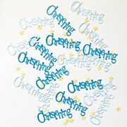Blue Bunting Confetti