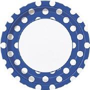 Blue Dots Plates