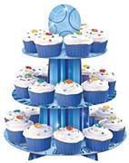Blue Glitz Cup Cake Stand