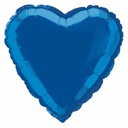 Royal Blue Heart Foil Balloon