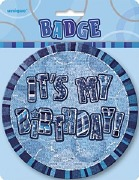 Blue Its My Birthday Badge