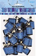 Blue Party Poppers