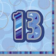 Blue13th Birthday Napkins