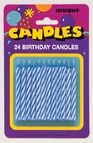 Blue Birthday Candles