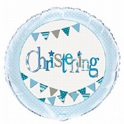 Blue Bunting Foil Balloon