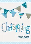 Blue Bunting Invitations