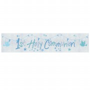 Blue Church Communion Banner