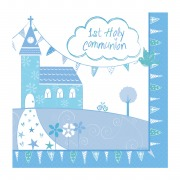 Blue Church Communion Napkin