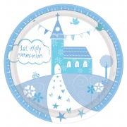 Blue Church Communion Plate