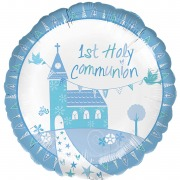Blue Church Foil Balloon