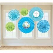 Blue Communion Fan Decoration