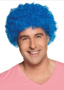 Blue Curly Clown Wig