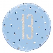 Blue Dot Glitz 13th Balloon