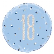 Blue Dot Glitz 18th Balloon
