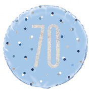 Blue Dot Glitz 70th Balloon