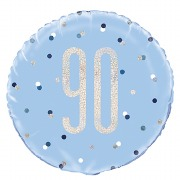 Blue Dot Glitz 90th Balloon