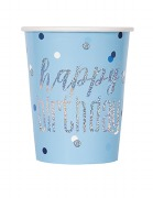 Blue Dot Glitz Birthday Cups