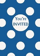 Blue Dots Party Invitations