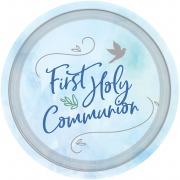 Blue Dove Communion Plate