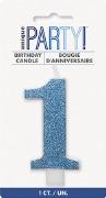 Blue Glitter No1 Candle
