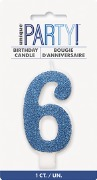 Blue Glitter No6 Candle