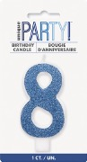 Blue Glitter No8 Candle