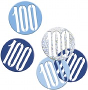 Blue Glitz 100th Confetti