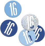 Blue Glitz 16th Confetti