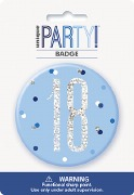 Blue Glitz 18th Badge