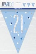 Blue Glitz 21st Bunting
