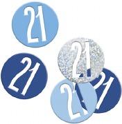 Blue Glitz 21st Confetti