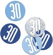 Blue Glitz 30th Confetti