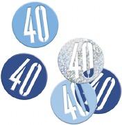 Blue Glitz 40th Confetti