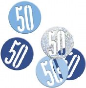 Blue Glitz 50th Confetti