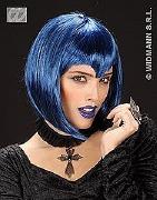 Blue Gothic Vamp Wig