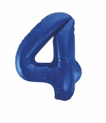 Blue Number 4 Balloon