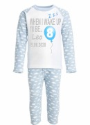 Blue Personalised Birthday PJs