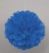 Blue Puff Ball Decoration