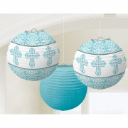 Blue Religious Lantern