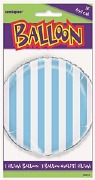Blue Striped Foil Balloon