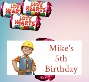 8PK Bob The Builder Lovehearts