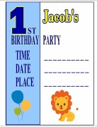 Boy's 1st Birthday Invites