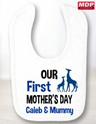 Boys First Mothers Day Bib