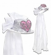 Bride To Be Heart Top Hat