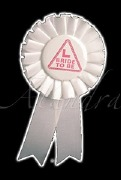 Bride To Be White Rosette